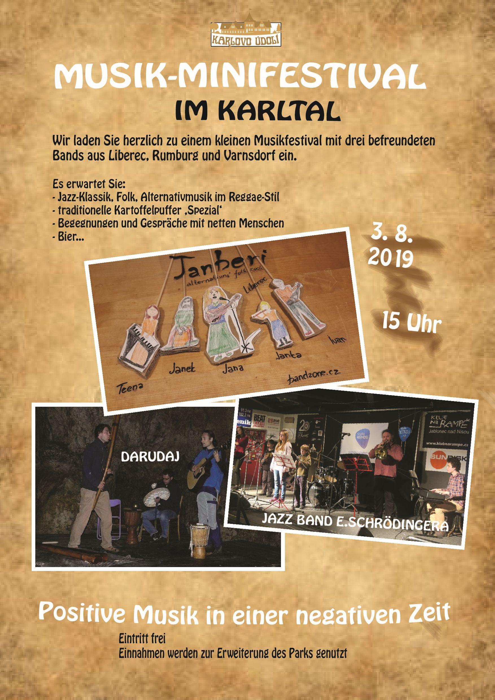 Musik-Minifestival - 3.8.2019 / 15 Uhr